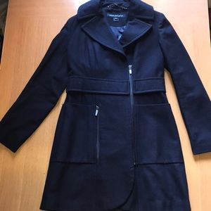French Connection Navy Wool Coat